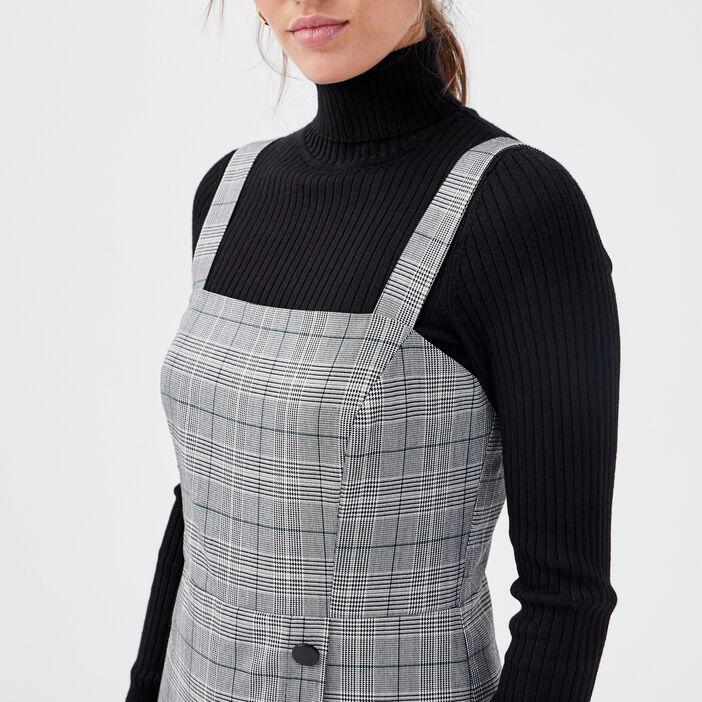 Salopette jupe-short gris femme