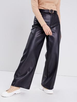 Pantalon large noir femme