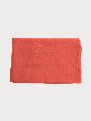 Foulard details dores rose corail femme