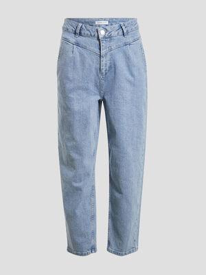 Jeans regular taille haute denim double stone femme