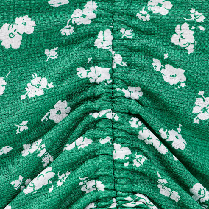 T-shirt manches courtes vert émeraude femme