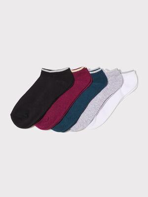 Lot 5 paires socquettes noir femme