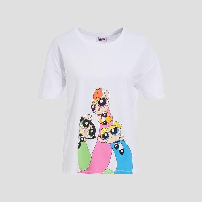 T-shirt Les Supers Nanas blanc femme