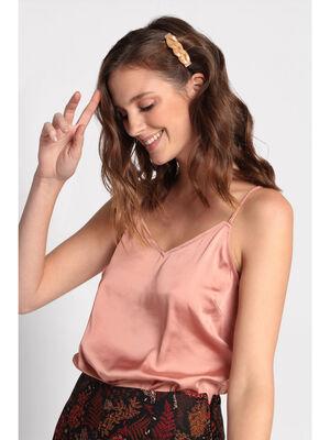 Debardeur bretelles fines rose poudree femme