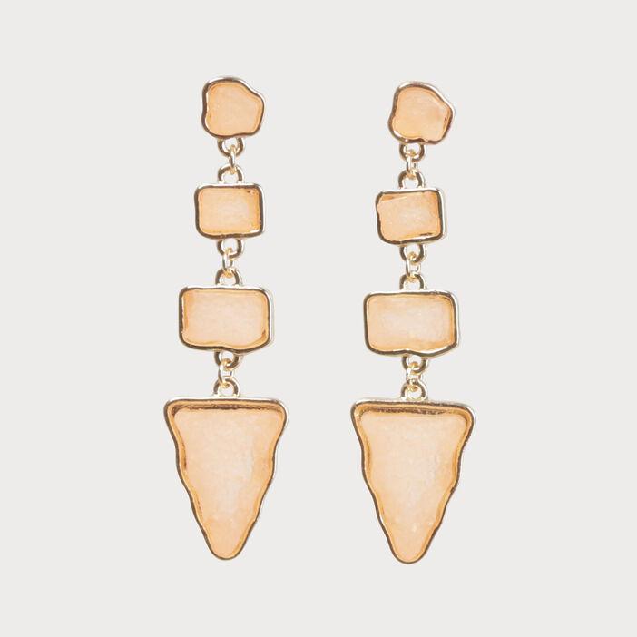 détaillant en ligne les mieux notés dernier gamme de couleurs exceptionnelle Boucles d'oreilles pendantes rose clair femme   Vib's
