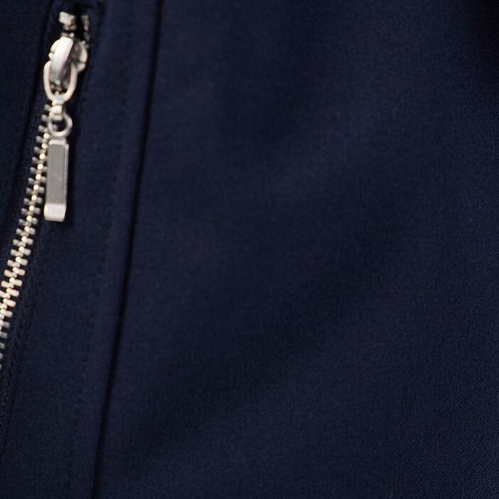 Veste cintrée à pans bleu marine femme