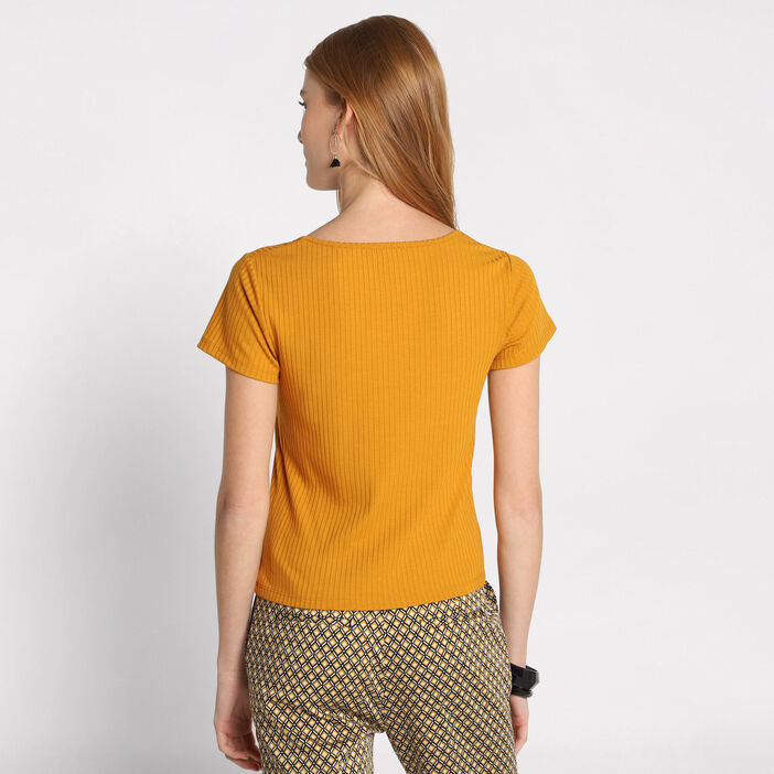 2c111cc5a0f4d ... T-shirt manches courtes camel femme ...