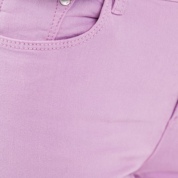 Jeans slim 5 poches mauve femme
