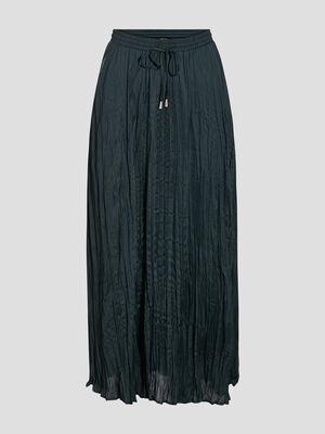 Jupe longue evasee bleu fonce femme