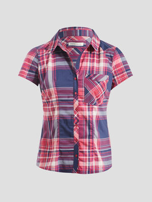 Chemise manches courtes rouge femme