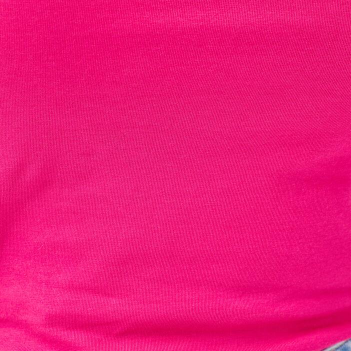 Débardeur liserés dentelle rose fushia femme