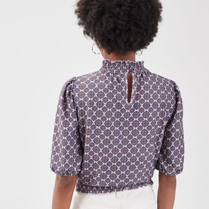 T-shirt manches 3/4 parme femme