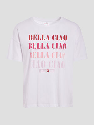 T shirt Casa de Papel blanc femme