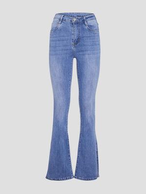 Jeans bootcut fendu denim double stone femme