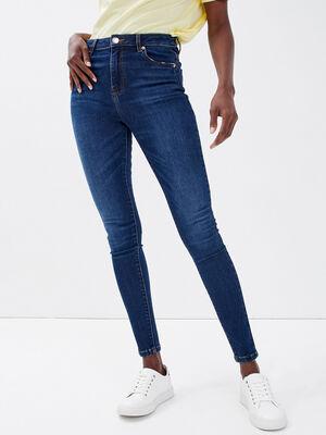 Jeans skinny 78eme destroy denim brut femme