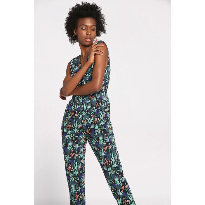 le dernier ce459 61578 Combinaison-pantalon ajusté noir femme | Vib's