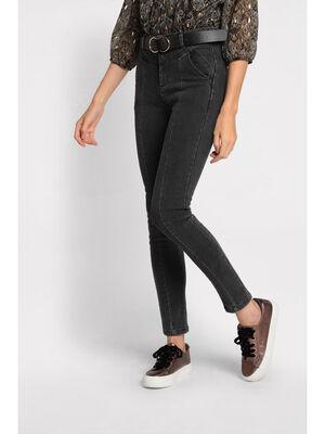 Jeans skinny couture fantaisie denim noir femme