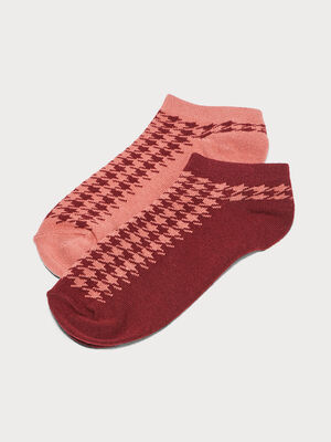 Lot 2 paires de chaussettes bordeaux femme