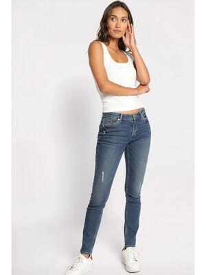 Jeans skinny destroy denim stone femme
