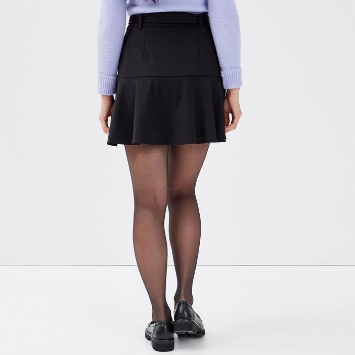 Jupe-short évasée noir femme