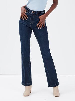 Jeans flare denim brut femme