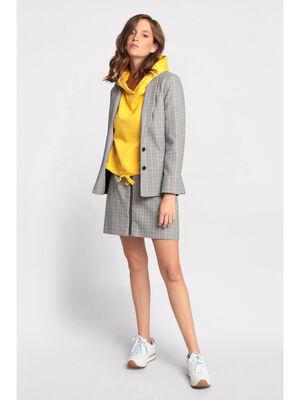 Veste blazer cintree a boutons blanc femme