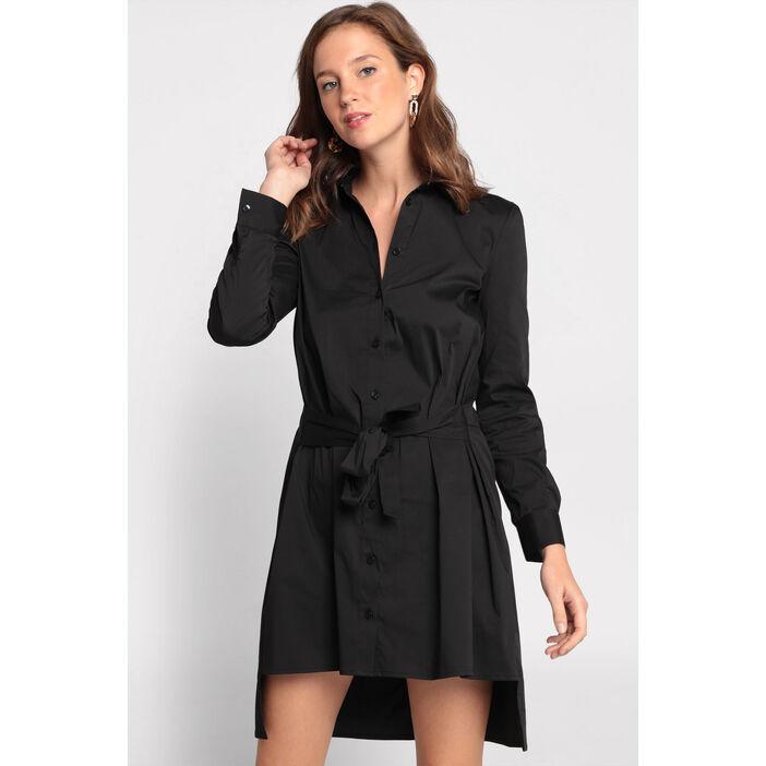 Garantie de satisfaction à 100% matériaux de qualité supérieure mode de luxe Robe chemise manches longues noir femme   Vib's