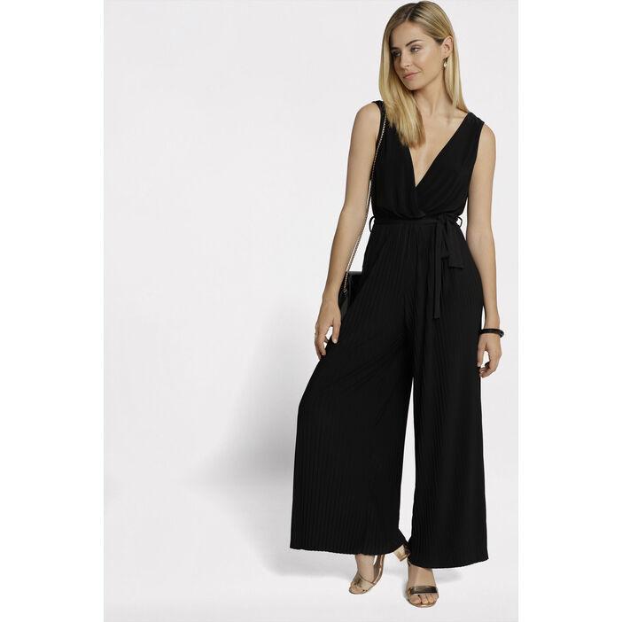 combinaison pantalon fluide noir femme vib 39 s. Black Bedroom Furniture Sets. Home Design Ideas