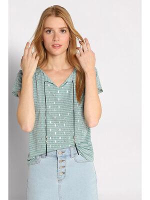 T shirt manches courtes cordon bleu clair femme