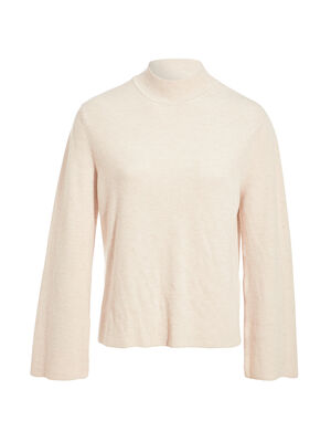 Pull manches longues amples ivoire femme