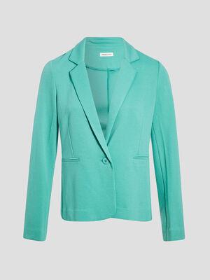Veste blazer droite boutonne vert menthe femme
