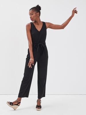 Combinaison pantalon dentelle noir femme