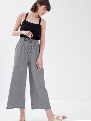 Pantalon droit fluide blanc femme