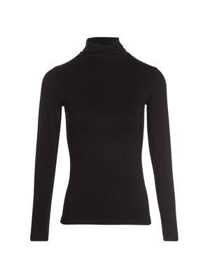 T shirts uni a manches longues noir femme