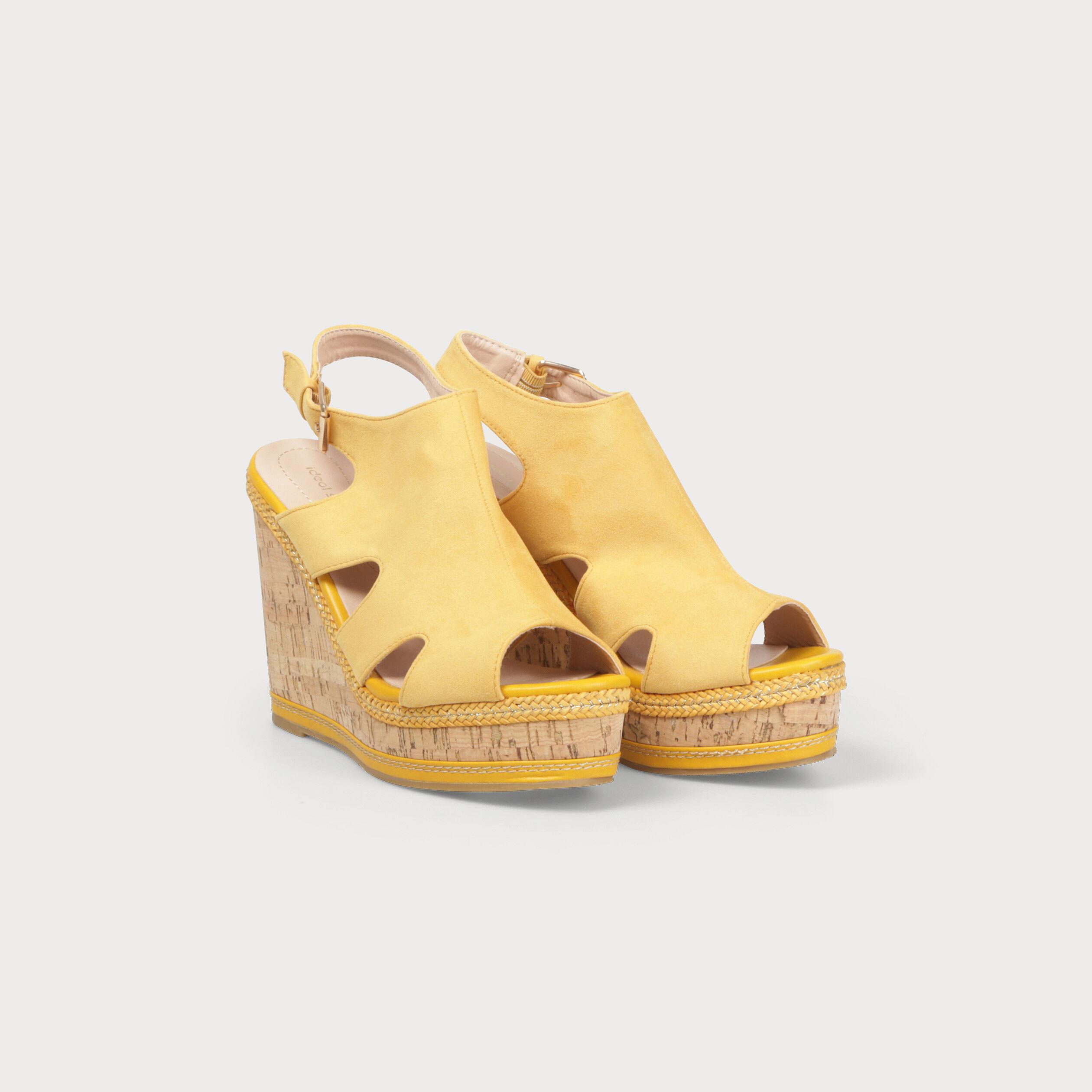 Compensé Compensé FemmeVib's Jaune Compensé Sandale Jaune Sandale Sandale FemmeVib's jL54AR3