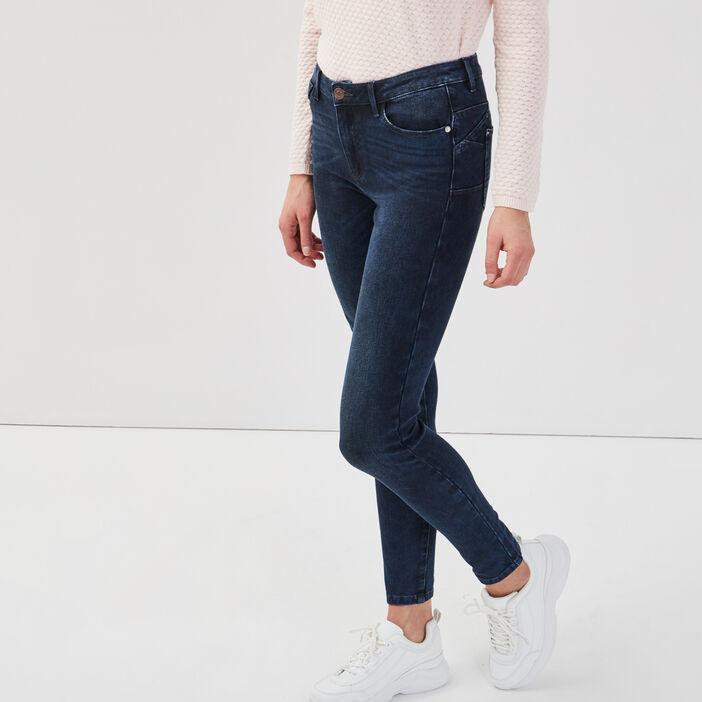 Jeans skinny push-up denim blue black femme