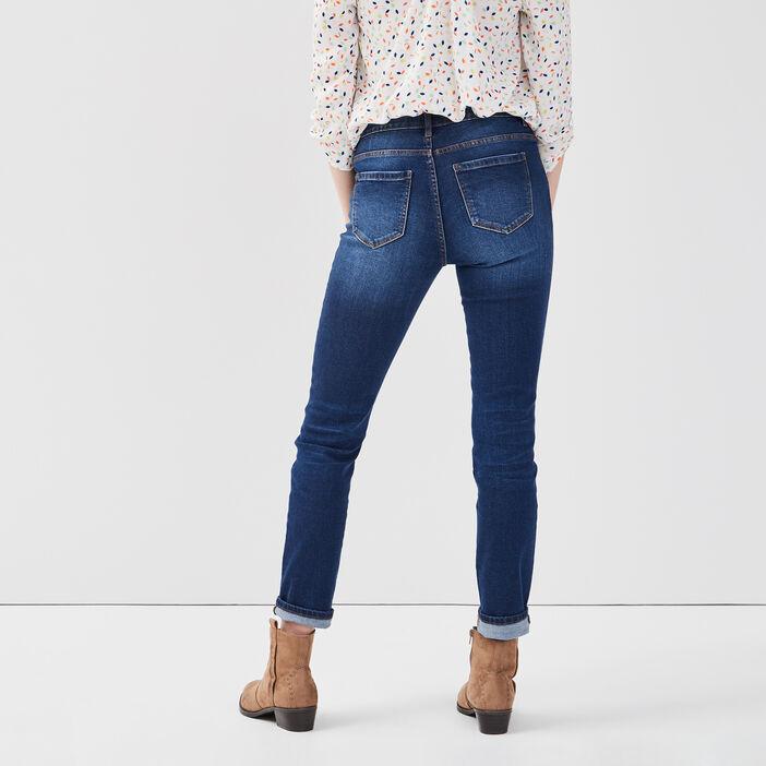 Jeans slim denim stone femme