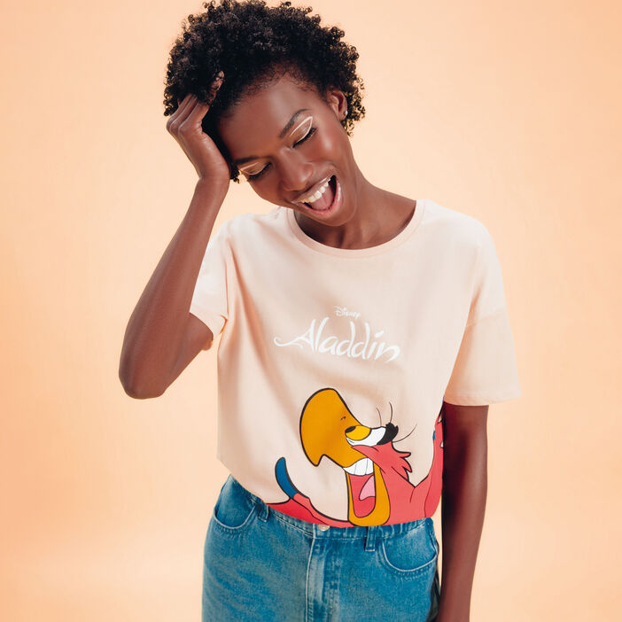 T-shirt Aladdin rose saumon femme