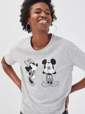 T shirt manches courtes Disney gris clair femme