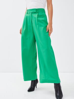 Pantalon large 78eme vert femme