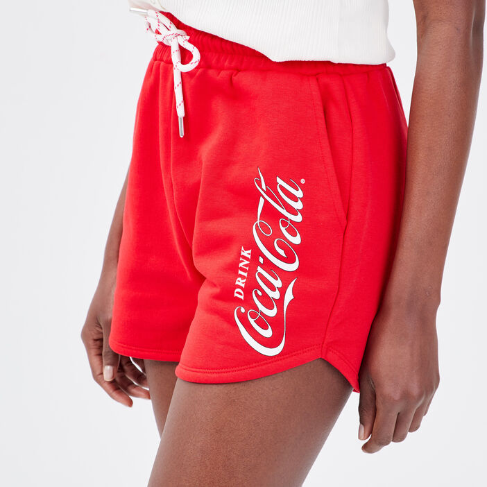 Short ample Coca-Cola rouge fluo femme