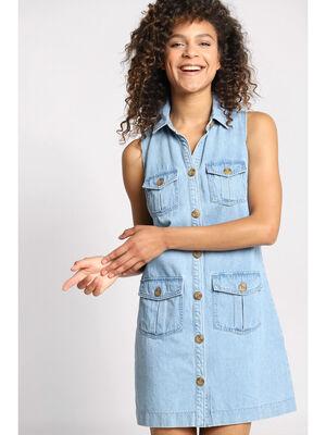 Robe en jean 4 poches denim double stone femme