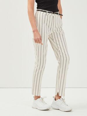 Pantalon 78eme a ceinture blanc femme