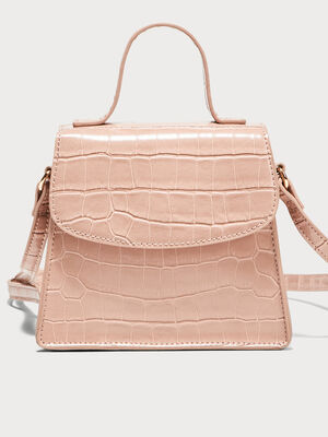 Sac bandouliere texture rose pastel femme