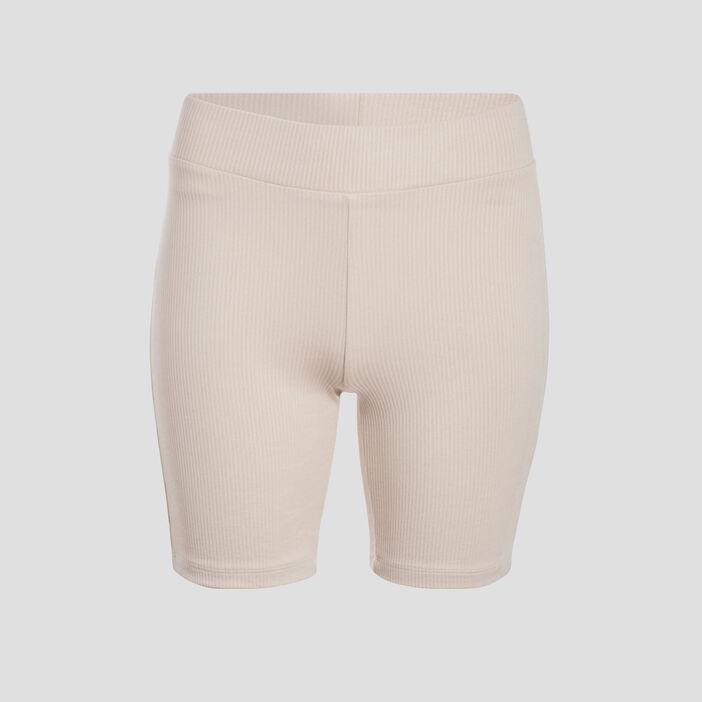 Short cycliste côtelé sable femme