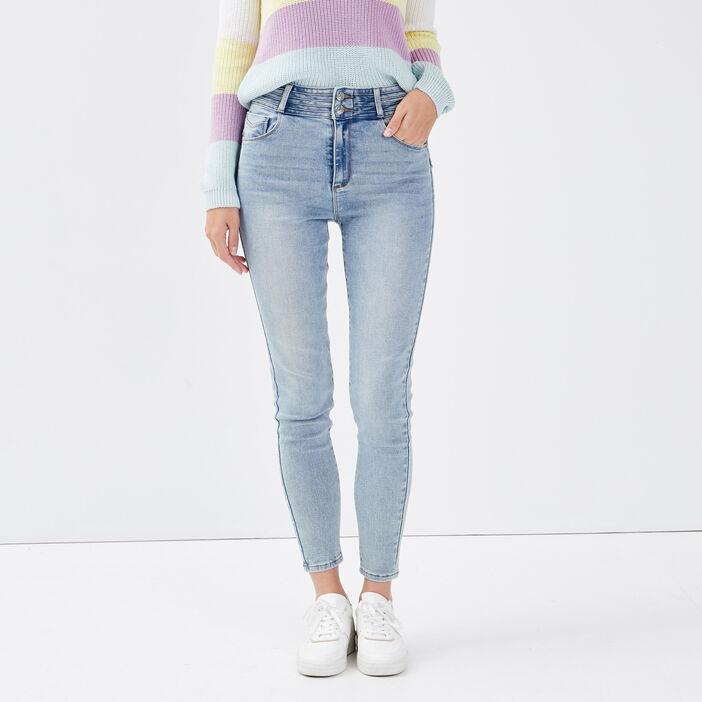 Jeans skinny push up denim bleach femme