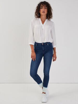 Jeans skinny detail delave denim brut femme