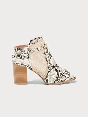 Sandales a talons ajourees beige femme