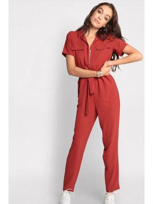 Combinaison pantalon zippee orange femme