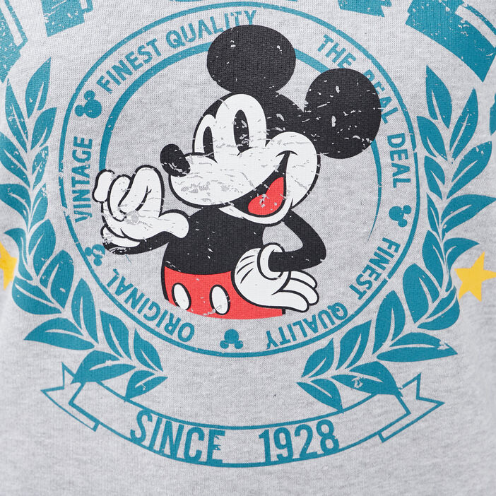Sweat manches longues Mickey gris clair femme
